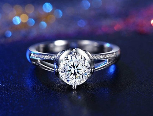 SPTHCXKM White Gold Plated AAA CZ Ring