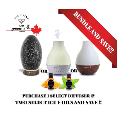 Select GreenAir Diffuser & Ice E Oil Ultimate Sale Bundle