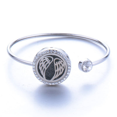 Stainless Steel Magnetic Essential Oil Diffuser Bracelet