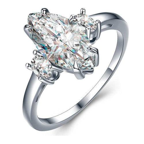 T7Y5A2VQ White Gold Plated CZ Ring