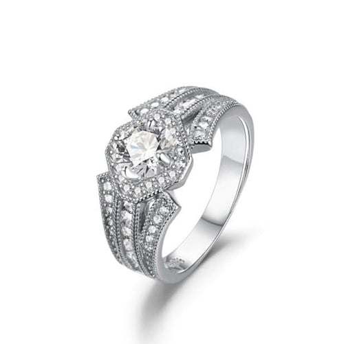 U6YUP4JT White Gold Plated CZ Ring