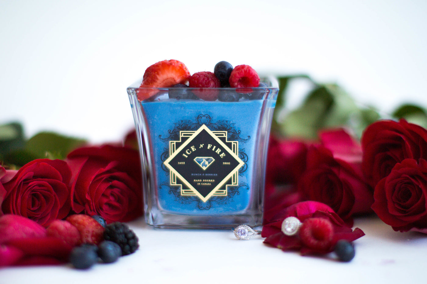 Bunch O Berries Ring Candle