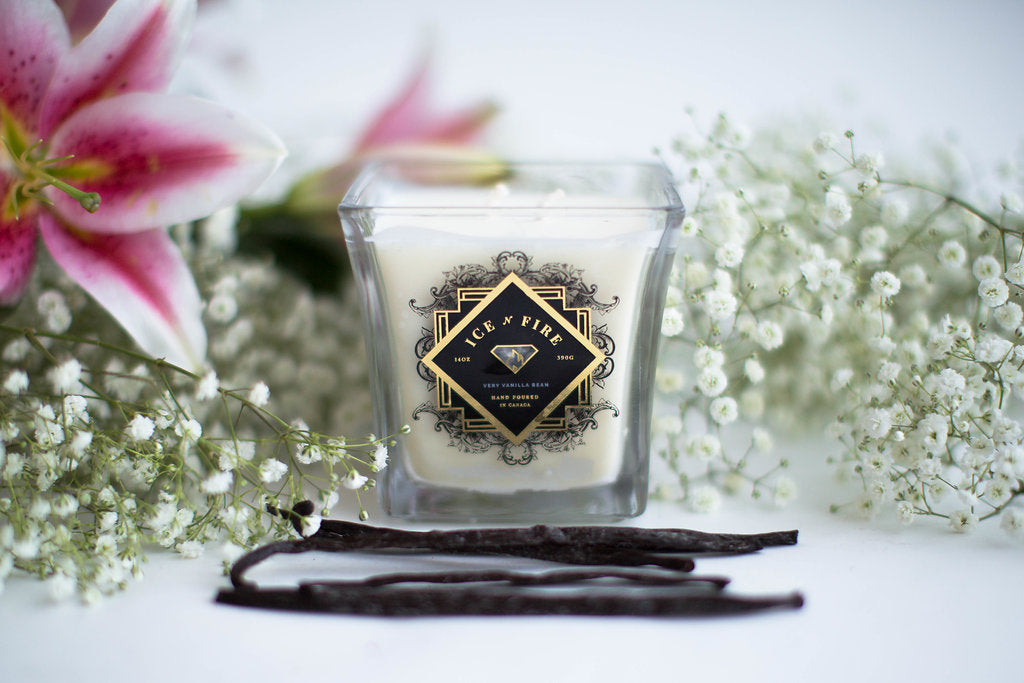 Sterling & Gold Collection Very Vanilla Bean Ring Candle