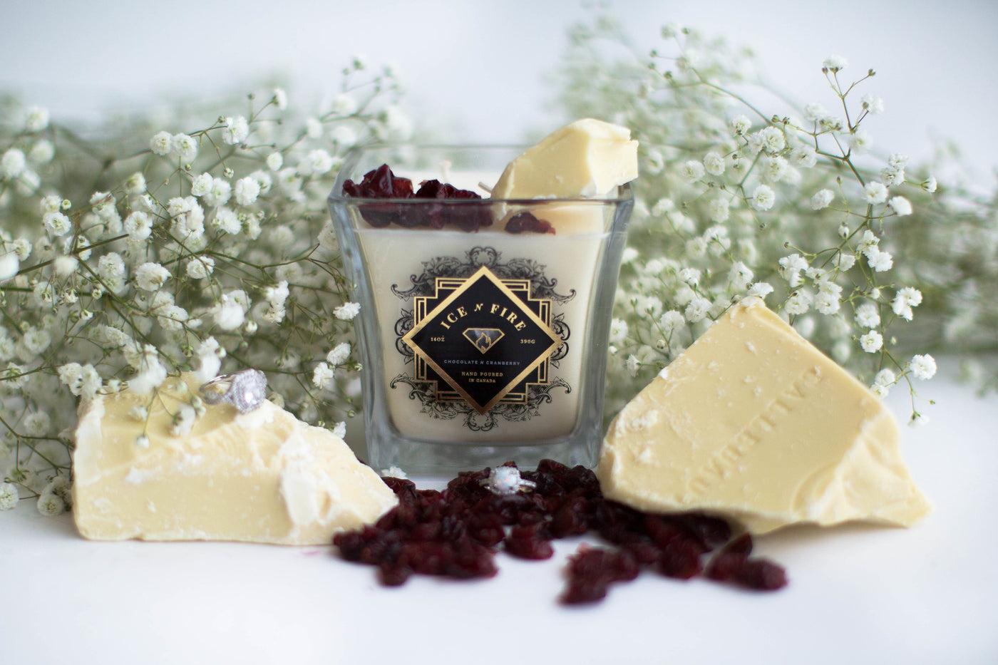 Chocolate N Cranberry Ring Candle
