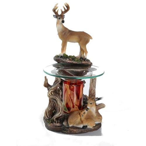 Deer Family Oil Warmer-Polyresin Warmers-Ice 'N' Fire