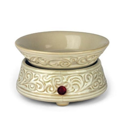 Fleur De Lis Electric 2 in 1 Ceramic Candle and Tart Warmer-Ceramic Electric Warmers-Ice N Fire