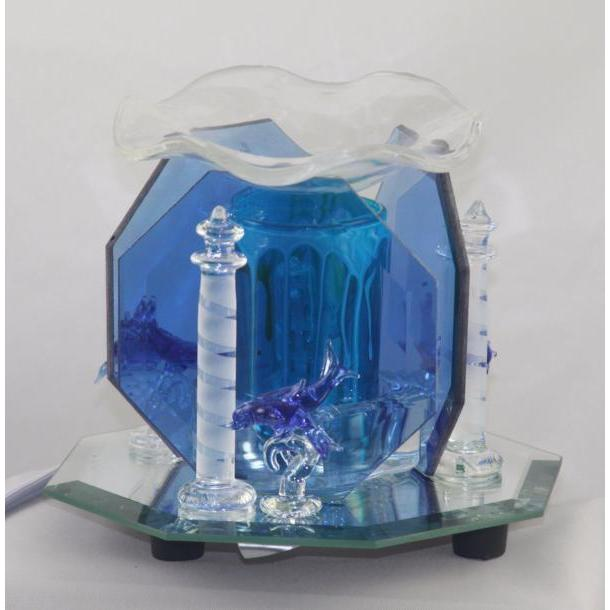 Lighthouse Dolphin Glass Figurine Electric Oil Warmer EF-813-Glass Figurine Warmer-Ice 'N' Fire