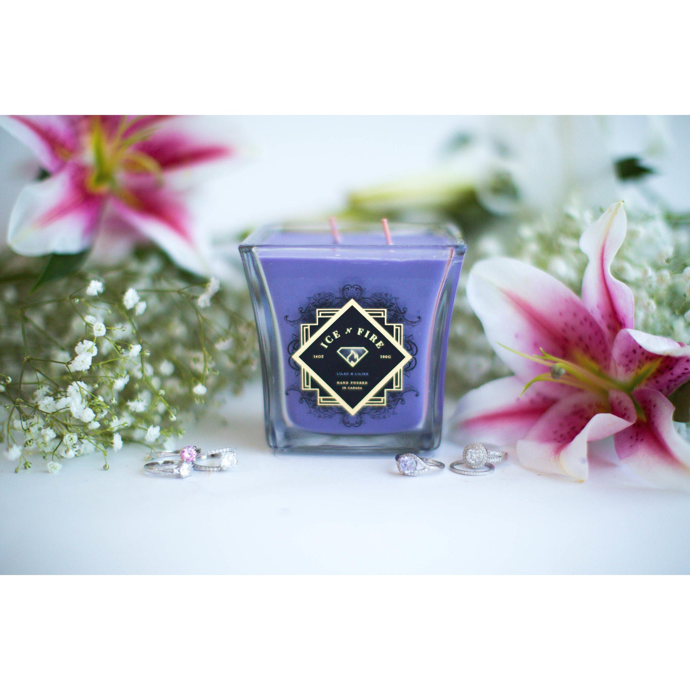 Lilac N Lilies Ring Candle-Candles-Ice 'N' Fire
