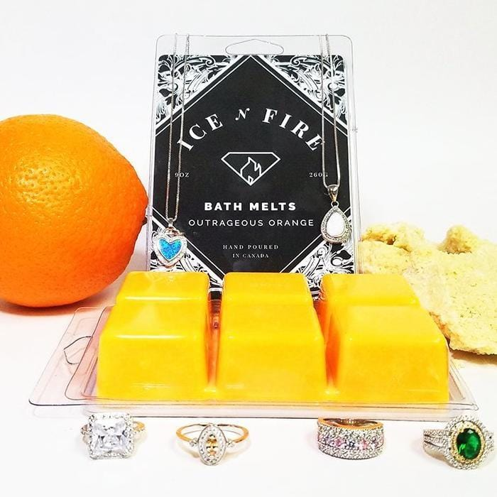 Outrageous Orange Luxury Aromatherapy Ring Bath Melts-Bath Melts Regular-Ice 'N' Fire