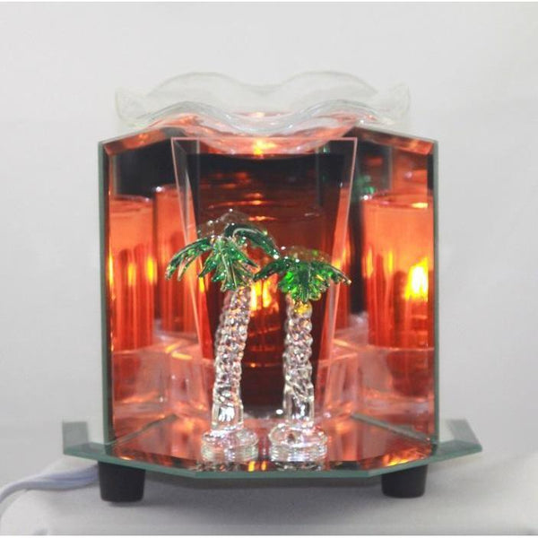 Palm Tree Glass Figurine Electric Oil Warmer EF-879-Glass Figurine Warmer-Ice N Fire