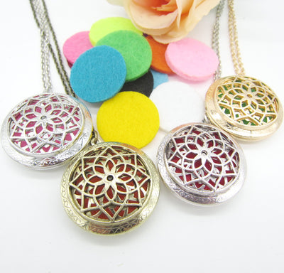 Pendant Locket Essential Oil Diffuser Necklace 2