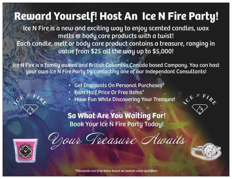 Ice N Fire Host A Party Post Card