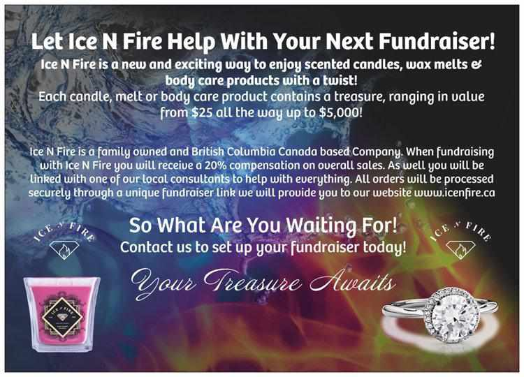 Ice N Fire Fundraiser Post Card