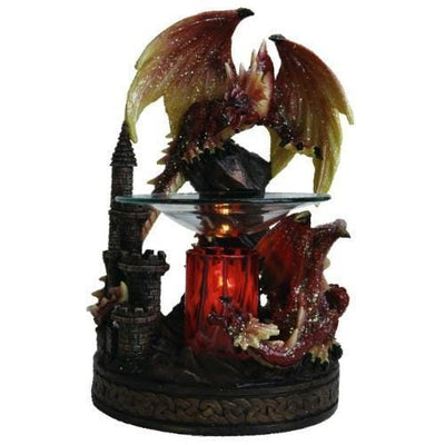 Red Dragon Oil Warmer-Polyresin Warmers-Ice 'N' Fire