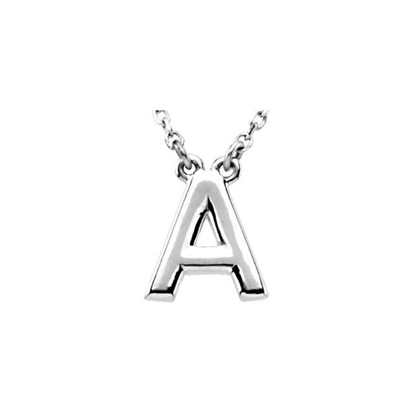 10MM Custom Initial Necklace (Available in letters A-Z) - Sterling Silver