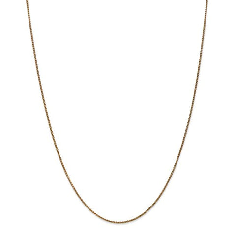 "1.2MM Parisian Wheat Chain (Available in 14"", 16"", 18"" and 20"") - 14K Yellow Gold"