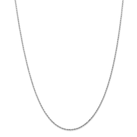"1.3MM Diamond-Cut Rope Chain (Available in 12"", 14"" , 16"" and 18"") - 14K White Gold"