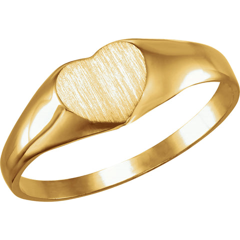 Heart Ring Size 3 - 14K Yellow Gold