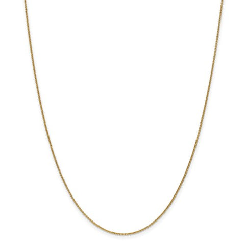 "1MM Cable Chain (Available in 14"", 16"" 18"" and 20"") - 14K Yellow Gold"