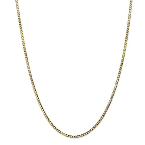 "2.5MM Curb Link Chain (Available in 14"", 16"", 18"" and 20"") - 10K Yellow Gold"