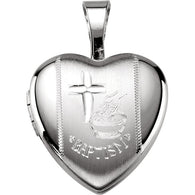 12MM Baptism Locket - Sterling Silver
