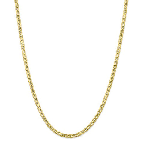 "4.1MM Anchor Link Chain (Available in 16"" and 18"") - 10K Yellow Gold"