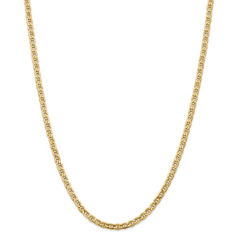 "4MM Anchor Link Chain (Available in 16"" and 18"") - 14K Yellow Gold"