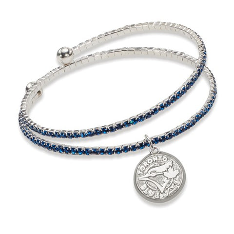 Blue Jays Crystal Wrap Bracelet