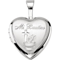 "12MM ""Mi Bautizo"" Baptism Locket - Sterling Silver"