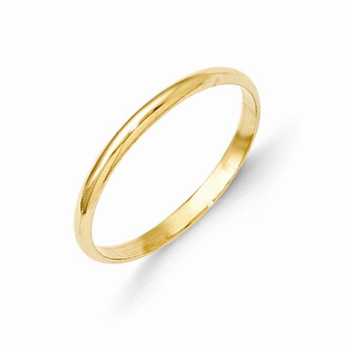 1.6MM Polished Ring (Available in sizes 1-4) - 14K Yellow Gold
