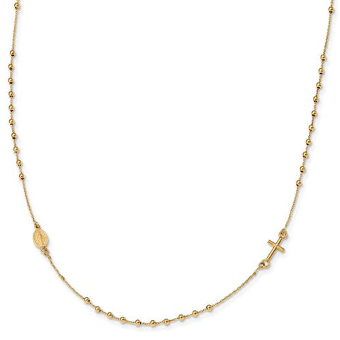 "16"" Rosary Necklace - 14K Yellow Gold"