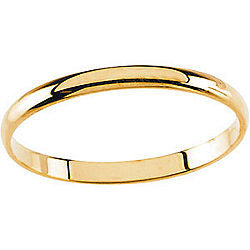 1.5MM Polished Ring Size 3 - 14K Yellow Gold
