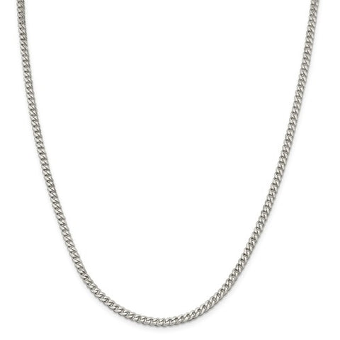 "3.5MM Curb Link Chain (Available in 16"" and 18"") - Sterling Silver"