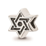 Star of David Bracelet Charm - Sterling Silver