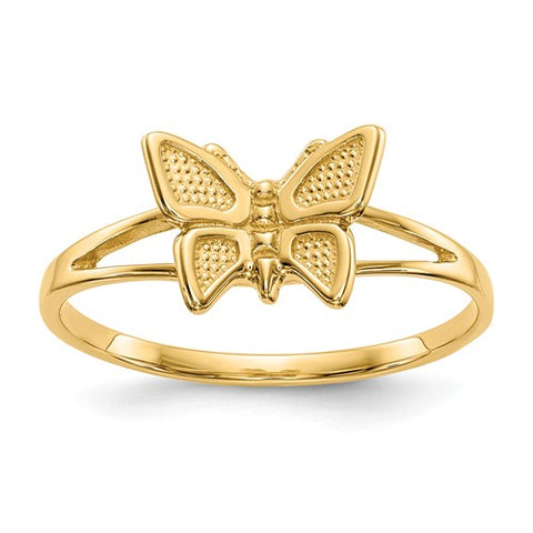 Butterfly Ring Size 5 - 14K Yellow Gold
