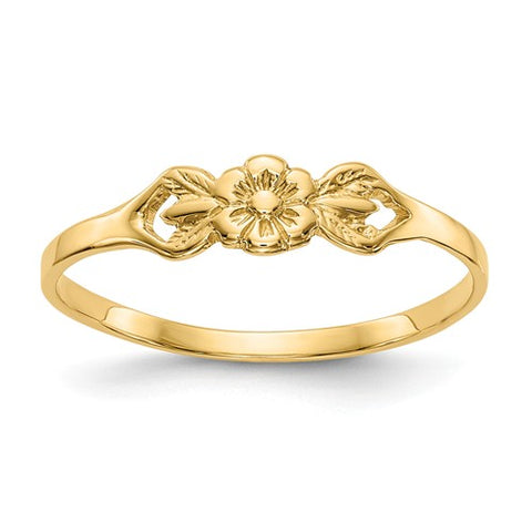 Flower Ring Size 5 - 14K Yellow Gold