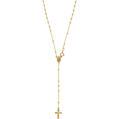 Rosary Necklace Gold 14K 13 Inch Children's Jewelry