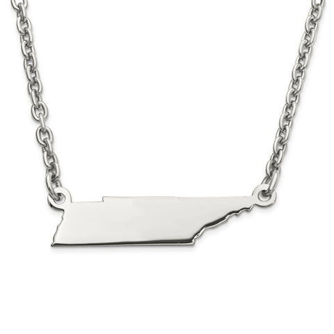 "7x24MM Tennessee 18"" Necklace - Sterling Silver"