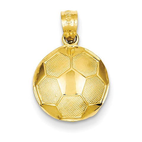 19MM Soccer Ball Charm - 14K Yellow Gold