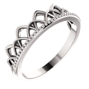 Crown Ring (Available in sizes 4-7) - Sterling Silver