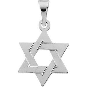 12MM Star of David Charm - 14K White Gold
