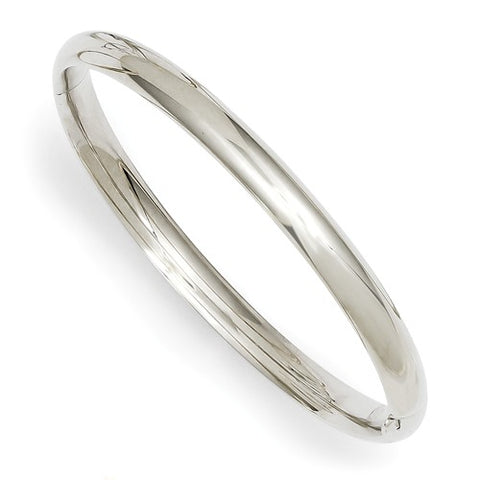 "6"" Baby Hinged Bangle Bracelet (Available in 14K Yellow or 14K White Gold)"