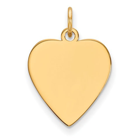 15MM Engravable Heart Charm - 10K Yellow Gold