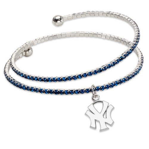 Yankees Crystal Wrap Bracelet