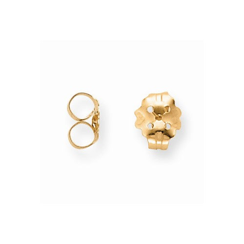 Screw Back Baby Earring Back in 14K Yellow Gold