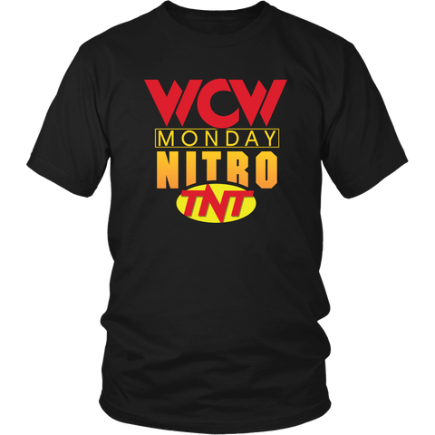 WCW Monday Nitro Retro T-Shirt or Hooded Sweatshirt