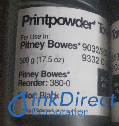 1 Bottle - Genuine Oce-Pitney Bowes-Imagistic 3800 - L 380-0 - Toner Cartridge Black