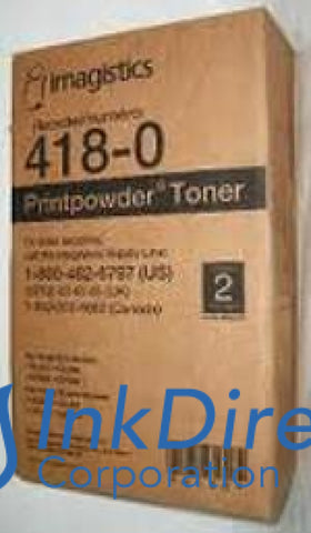 1 Bottle - Genuine Oce-Pitney Bowes-Imagistic 4180 - L 418-0 - Same 302A Toner Cartridge Black