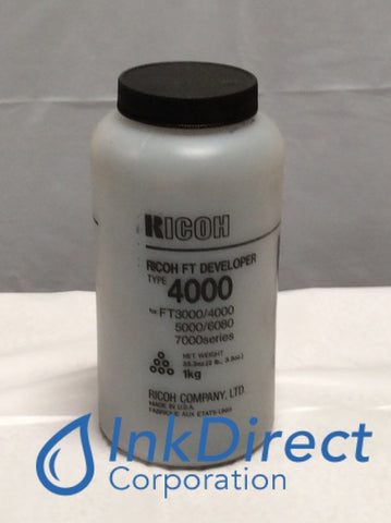 1 Bottle - Genuine Ricoh 887133 Type 4000 Developer Developer / Starter