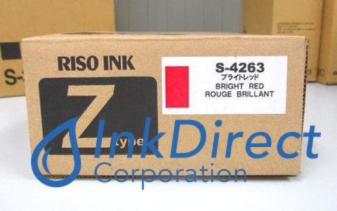 1 Bottle Genuine Riso G S4263U - L S-4263U - Ink Bright Red
